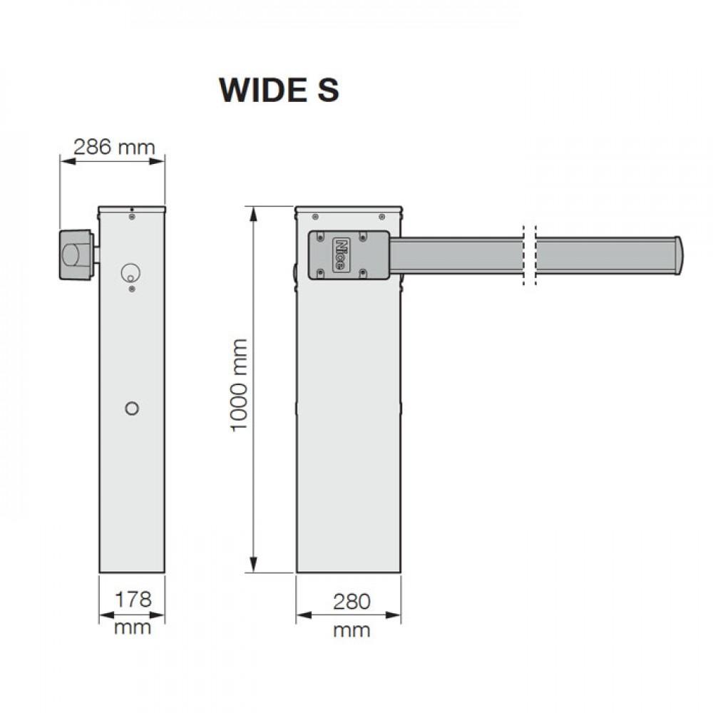 Шлагбаум Nice WIDES4-GSM4.0